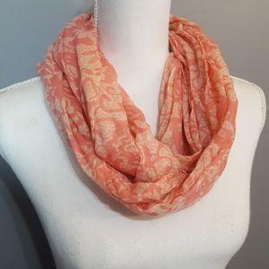 Pink Infinity Scarf lightweight Wrap